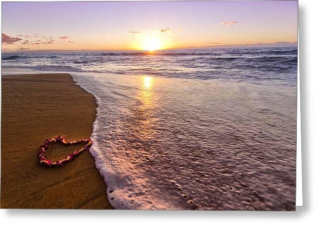Lei Of Love Polihale Kauai Hawaii Greeting Card by Lawrence Knutsson