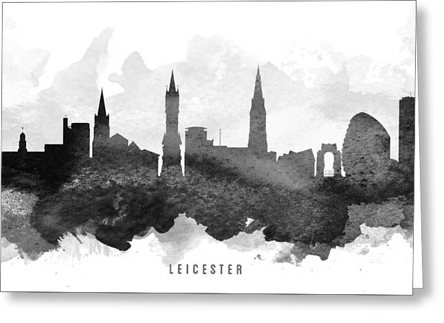 Leicester Cityscape 11 Greeting Card by Aged Pixel