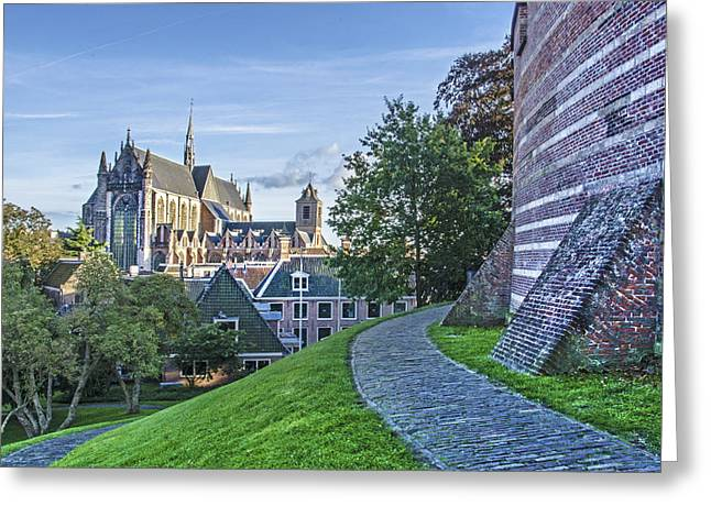 Leiden, The Church And The Castle Greeting Card