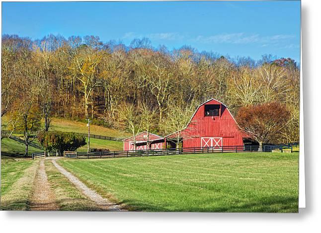 Leipers Creek Road Barn Greeting Card