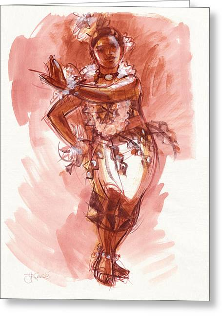 Lelei, Dancer Of Tonga Greeting Card