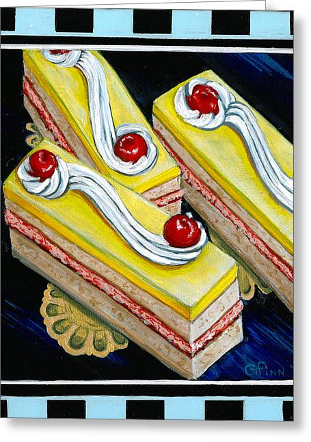 Lemon Bars With A Cherry On Top Greeting Card