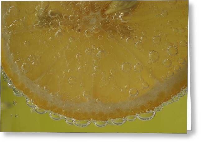 Lemon Bubbles Greeting Card by Christine Amstutz