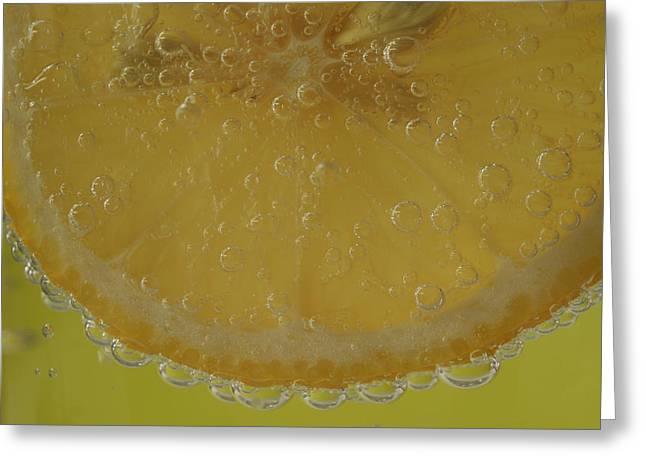 Lemon Bubbles Greeting Card by Christine Amstutz