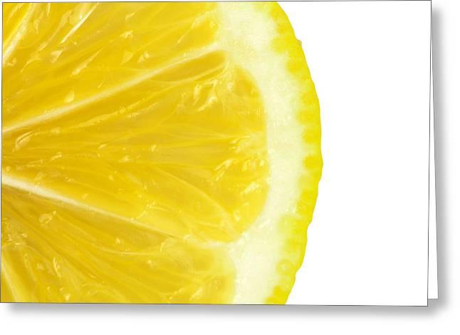 Lemon Close Up Greeting Card by Deyan Georgiev
