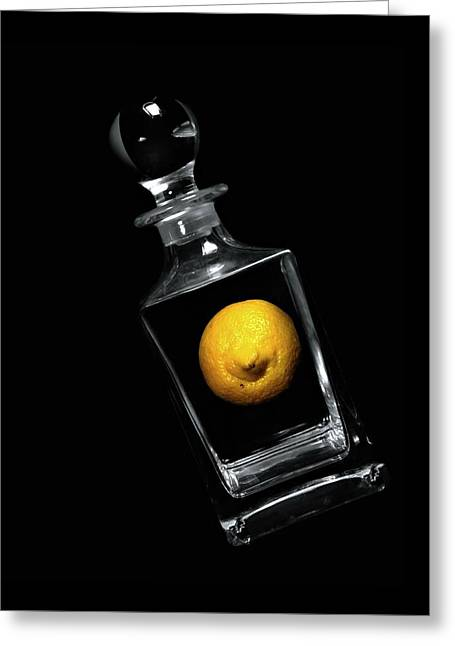 Lemon Decanter Greeting Card by Diana Angstadt
