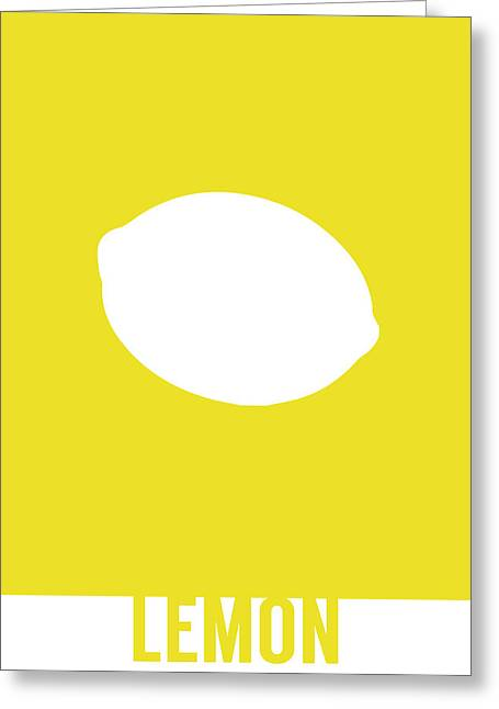 Lemon Food Art Minimalist Fruit Poster Series 012 Greeting Card