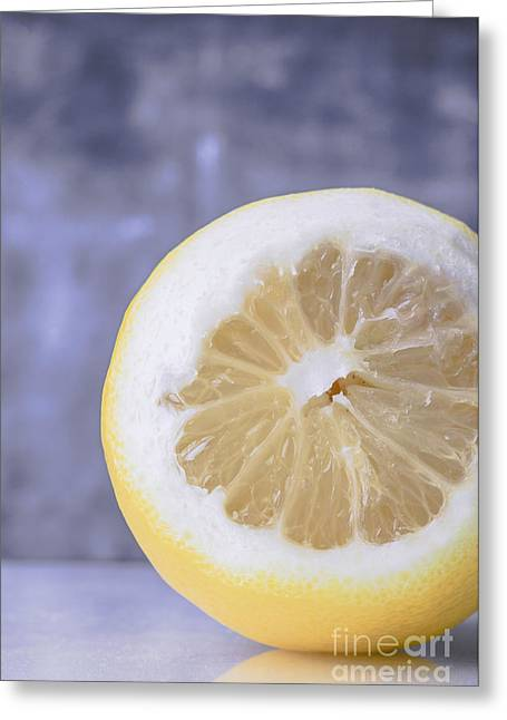 Lemon Half Greeting Card by Edward Fielding