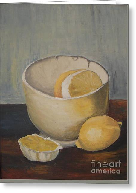 Lemon In A Bowl Greeting Card