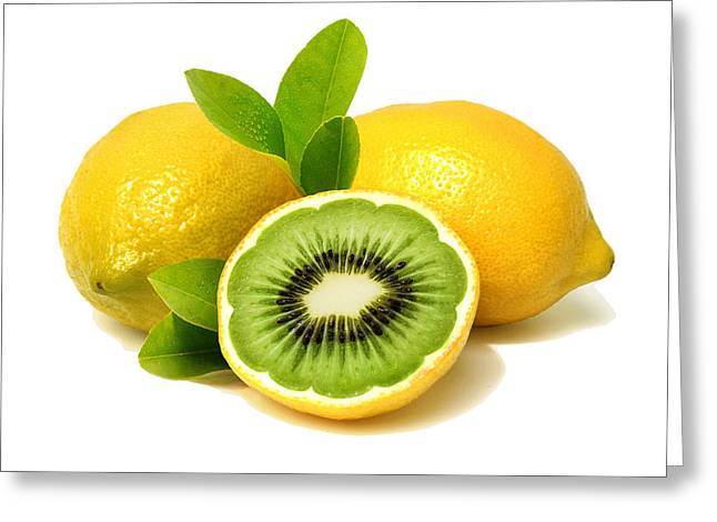 Lemon Kiwi Greeting Card