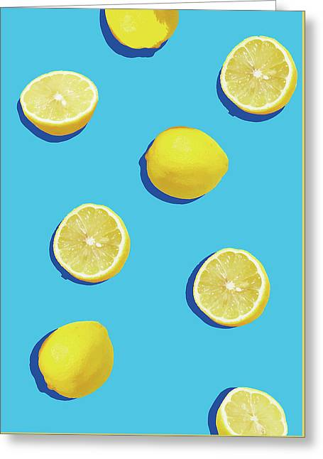 Lemon Pattern Greeting Card by Rafael Farias
