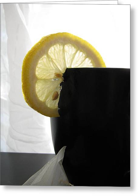 Greeting Card featuring the photograph Lemon Slice by Lindie Racz