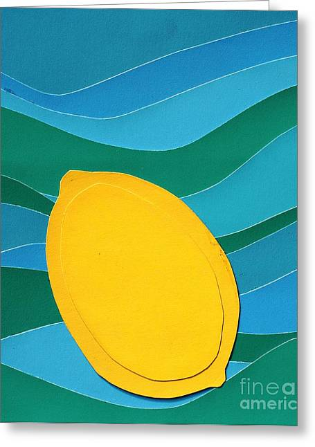 Lemon Slice Greeting Card by Vonda Lawson-Rosa