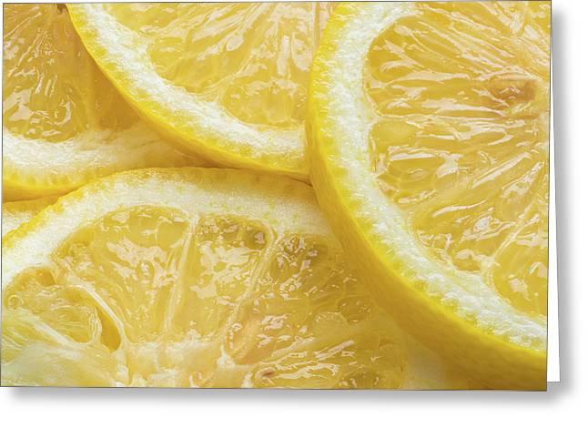 Lemon Slices Number 3 Greeting Card by Steve Gadomski