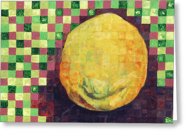 Greeting Card featuring the painting Lemon Squares by Shawna Rowe