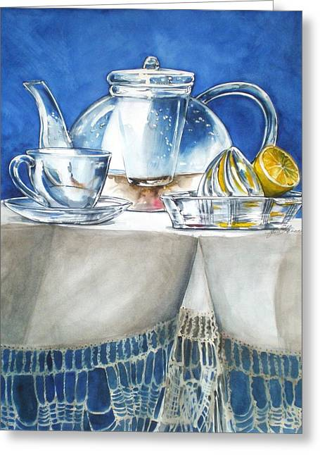 Lemon With Your Tea Greeting Card
