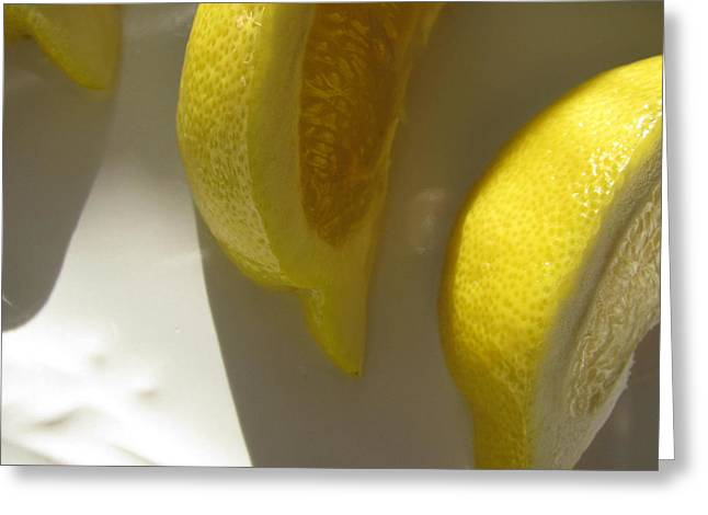 Greeting Card featuring the photograph Lemon Yellow by Lindie Racz