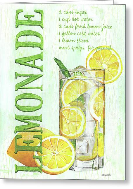 Lemonade Greeting Card by Debbie DeWitt