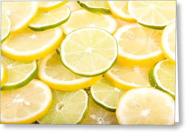 Lemons And Limes Abstract Greeting Card by James BO  Insogna
