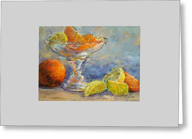Lemons And Oranges Greeting Card by Jill Musser
