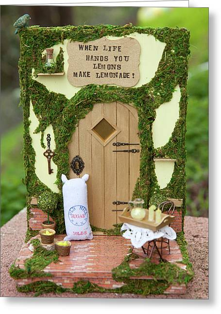 Lemons Fairy Door Greeting Card