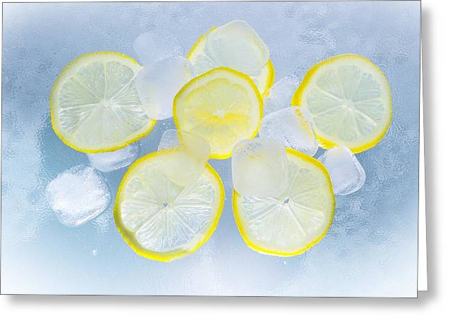 Lemons Greeting Card by FL collection