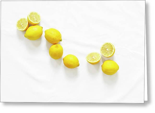 Lemons Greeting Card by Lauren Mancke