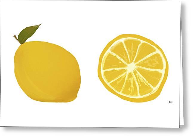 Lemons Greeting Card by  Lisa Weedn