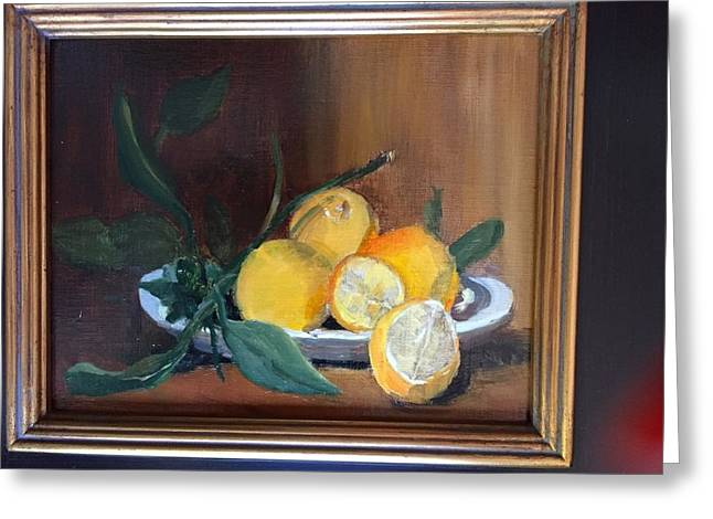 Lemons Waiting Greeting Card