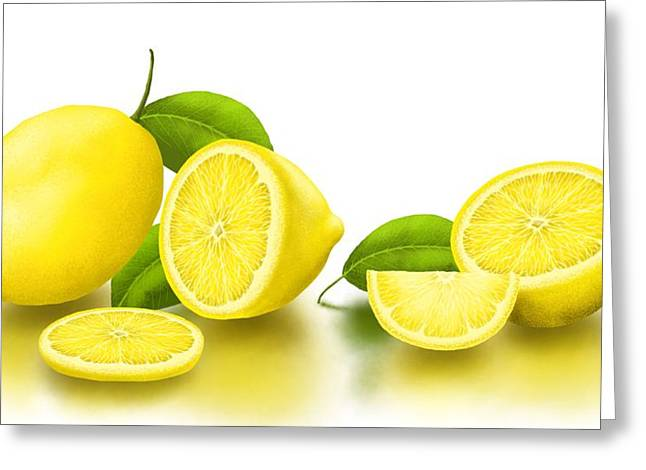 Lemons-white Greeting Card