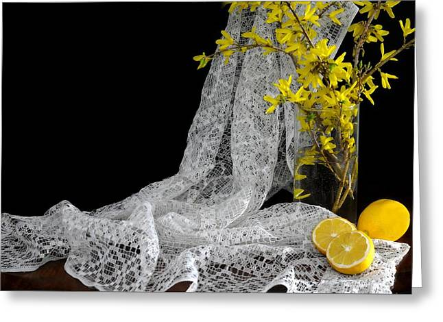 Lemons'n Lace Greeting Card by Diana Angstadt