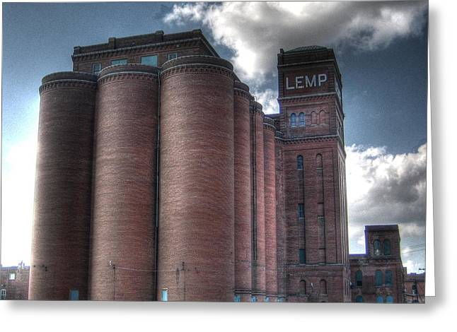 Lemp Brewery Greeting Card by Jane Linders