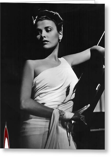 Lena Horne  Circa 1943-2015 Greeting Card by David Lee Guss