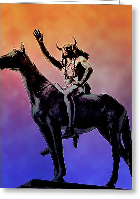 Lenape Indian Chief Greeting Card by Bill Cannon