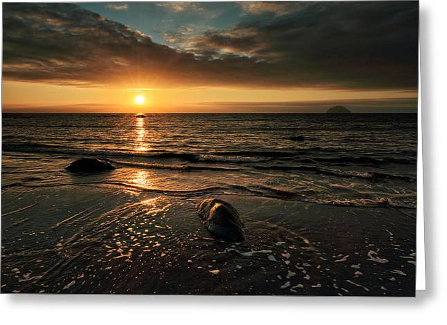Lendalfoot Sunset Greeting Card