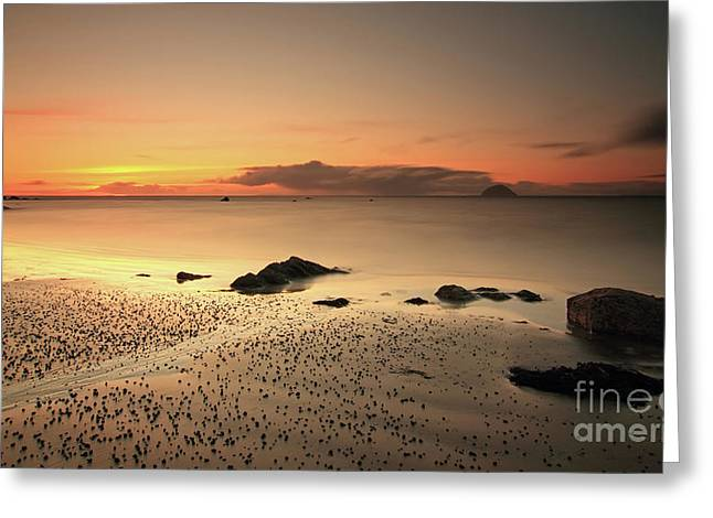 Lendalfoot Sunset Ref8962 Greeting Card