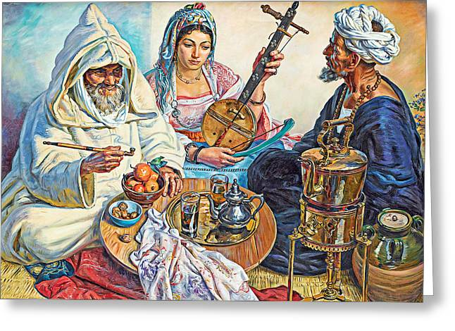 L.endres Maroc Painting Greeting Card by Munir Alawi