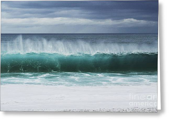 Lengthy Wave Greeting Card by Vince Cavataio - Printscapes