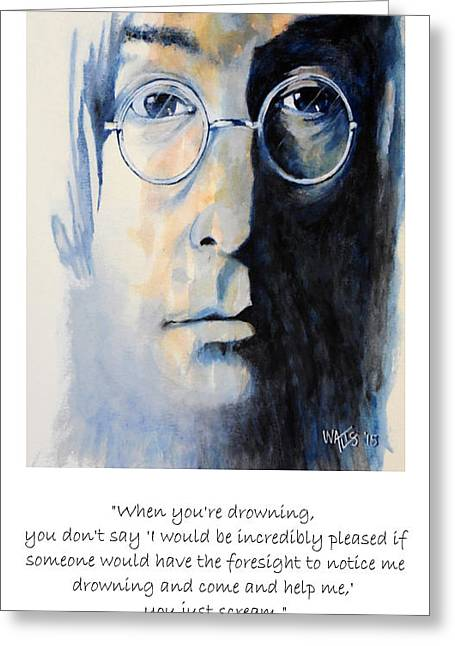 Lennon Quote Greeting Card