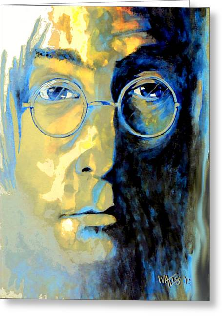Lennon Greeting Card by William Walts