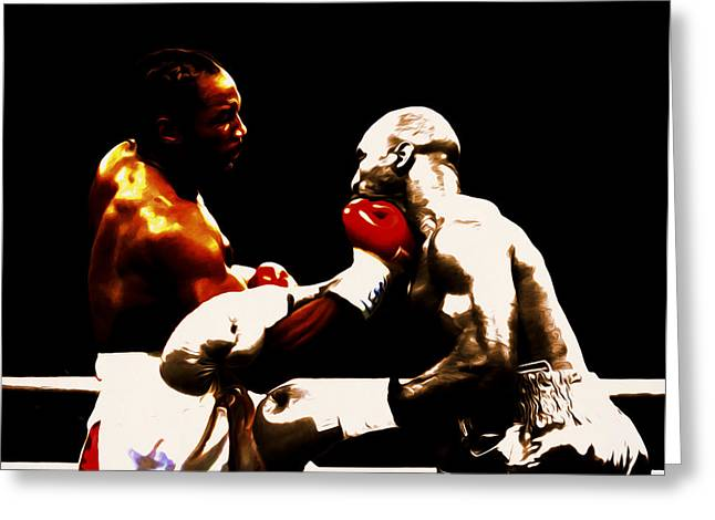 Lennox Lewis And Evander Holyfield 3c Greeting Card