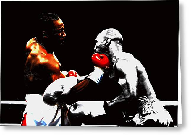 Lennox Lewis And Holyfield 3h Greeting Card