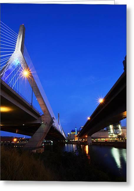 Lenny Zakim Bridge Td Banknorth Boston Garden Boston Ma Greeting Card
