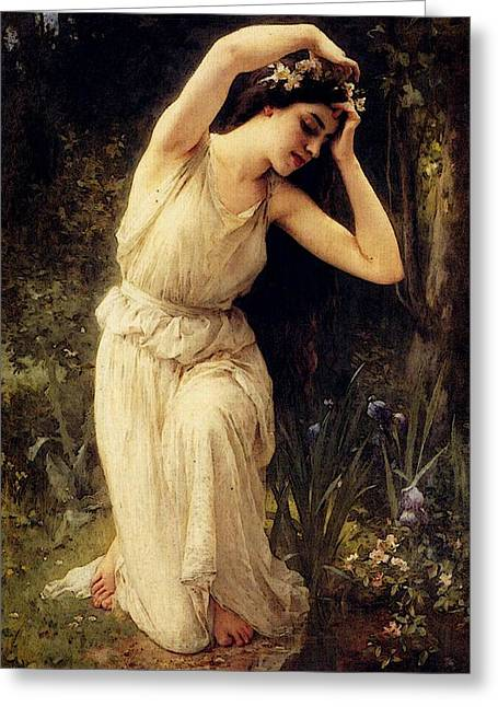 Lenoir Charles Amable A Nymph In The Forest Greeting Card