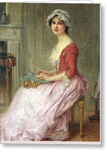 Lenoir Charles Amable The Seamtress Greeting Card