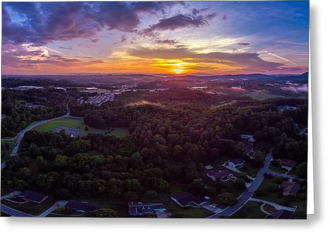 Lenoir North Carolina  Sunset Greeting Card