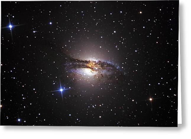 Constellation Greeting Cards - Lenticular Galaxy Centaurus A Greeting Card by R Jay GaBany