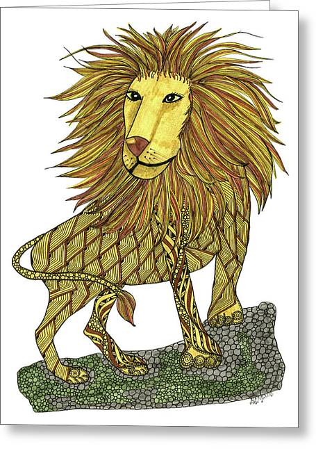 Leo Greeting Card