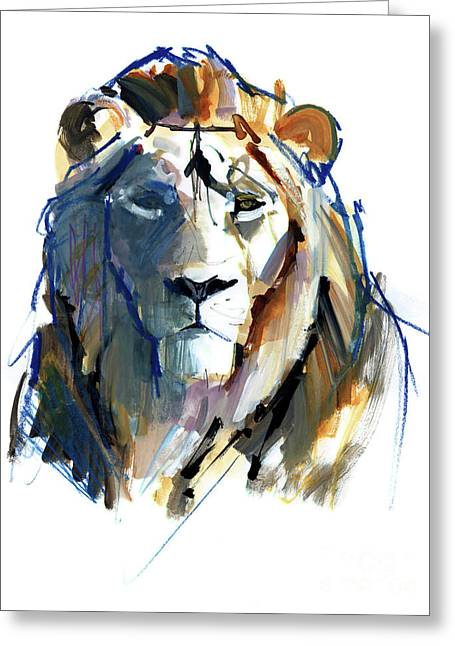 Leo Greeting Card by Mark Adlington
