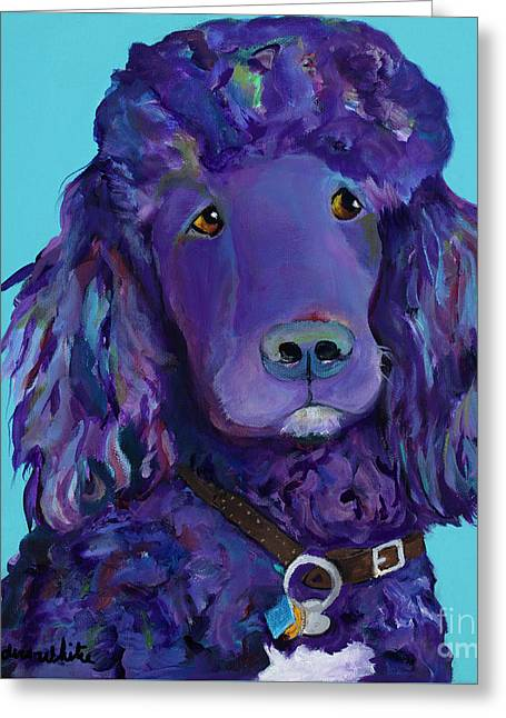 Leo Greeting Card by Pat Saunders-White